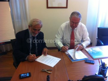 Secondo Amalfitano Ettore Pietrabissa - firma della convenzione