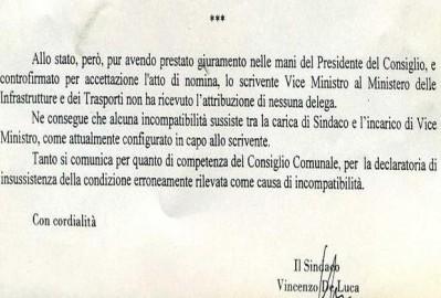 lettera deluca al governo