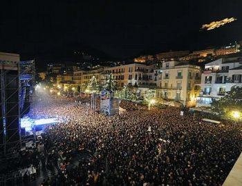 capodanno a Salerno - pubblico e concerto
