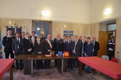 Brigadiere Scaglione con consiglio comunale