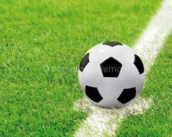 Soccer Ball on Halfway Line