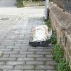 uomo morto per strada