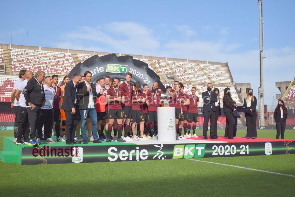 Premiazione della Salernitana allo Stadio Arechi